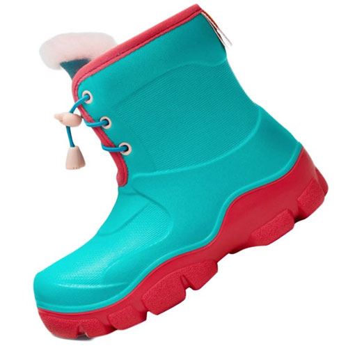 Honeywell Waterproof Non-slip Kids Boots Green/Red Size 26