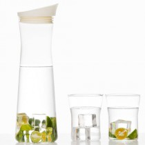 17PIN Borosilicate Glass Kettle 1.2 L+ 2 Drinking Glasses Set