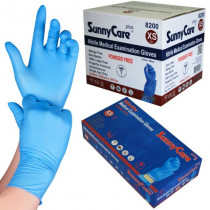 Black Nitrile 6 Mil Thick Heavy-Duty (Powder-Free) Textured Gloves