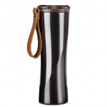 KissKissFish Vacuum Thermos Cup with OLED display 430ml Black