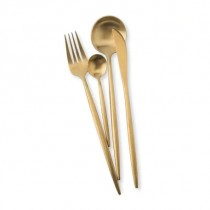 Maison Maxx 4 Piece Stainless Steel Flatware Set Gold