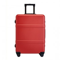 "RunMi 90 Points Classic Aluminum Box Suitcase 20"" Amber Red"