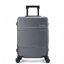 "RunMi 90 Points Classic Aluminum Box Suitcase 24"" Dark Gray"