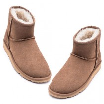 UREVO Casual Wool Boots Brown 36