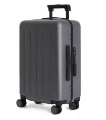 "RunMi 90 Points Trolley Aluminum Box Suitcase 20"" Gray Stars"
