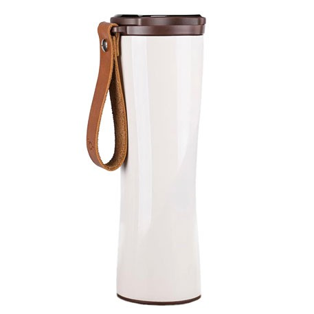 KissKissFish Vacuum Thermos Cup with OLED display 430ml White