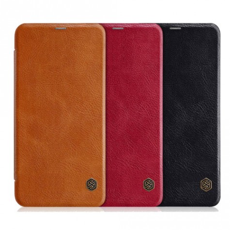 NILLKIN Flip Leather Protective Case for Redmi Note 6 Pro Red
