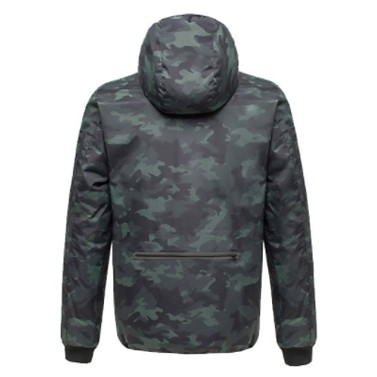 Uleemark Men's Double-Sided Down Jacket Camouflage Black