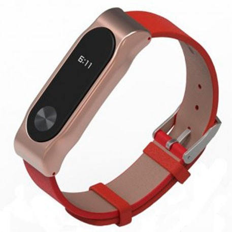 Xiaomi Mi Band 2 MiJobs Leather Strap Red/Rose Gold