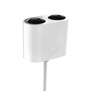 Roidmi 1 to 2 Car Cigarette Lighter Charger Adapter White