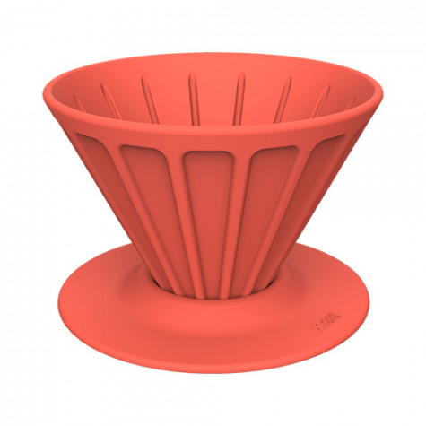 Xiong and Yang Coffee Portable Silicone Filter Cup Red
