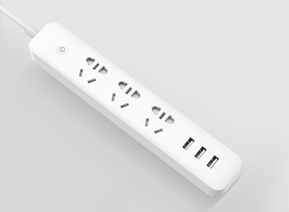 KingMi Power Strip with WiFi 3 Sockets /3 USB White