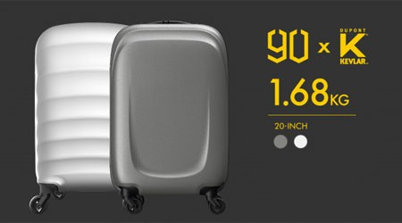 Only 1,68kg!  Ultra-Light Suitcase by 90 GO Fun and DupontTM  Kevlar®