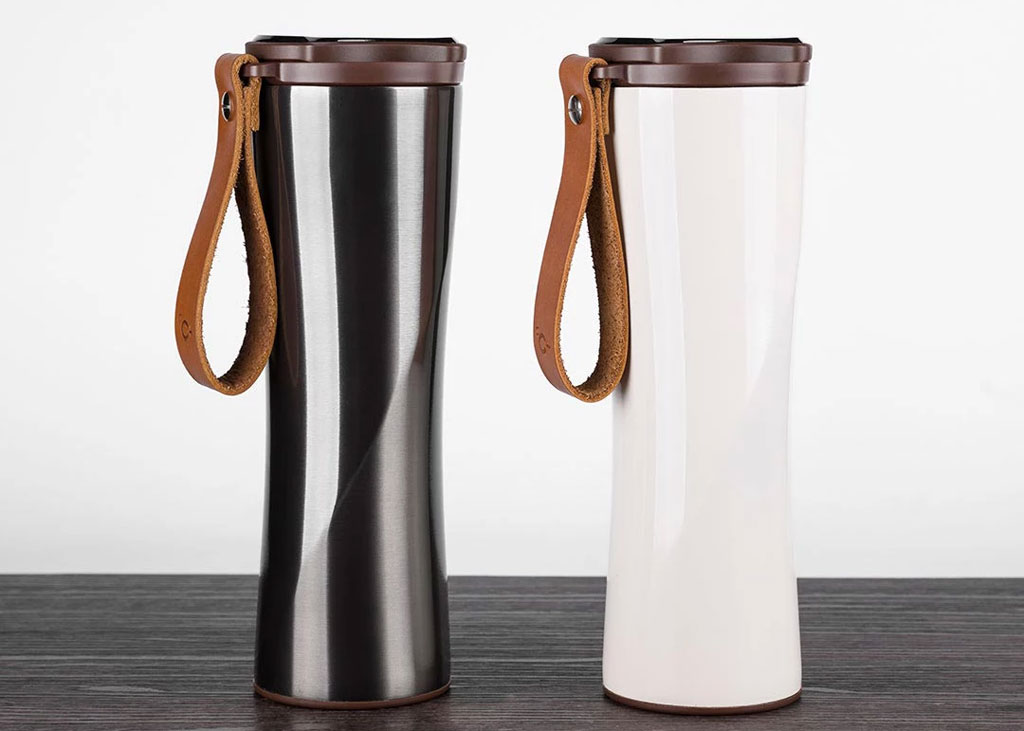 KissKissFish Vacuum Thermos Cup with OLED display