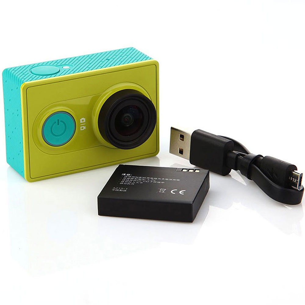 Xiaomi Yi Action Camera Green with battery