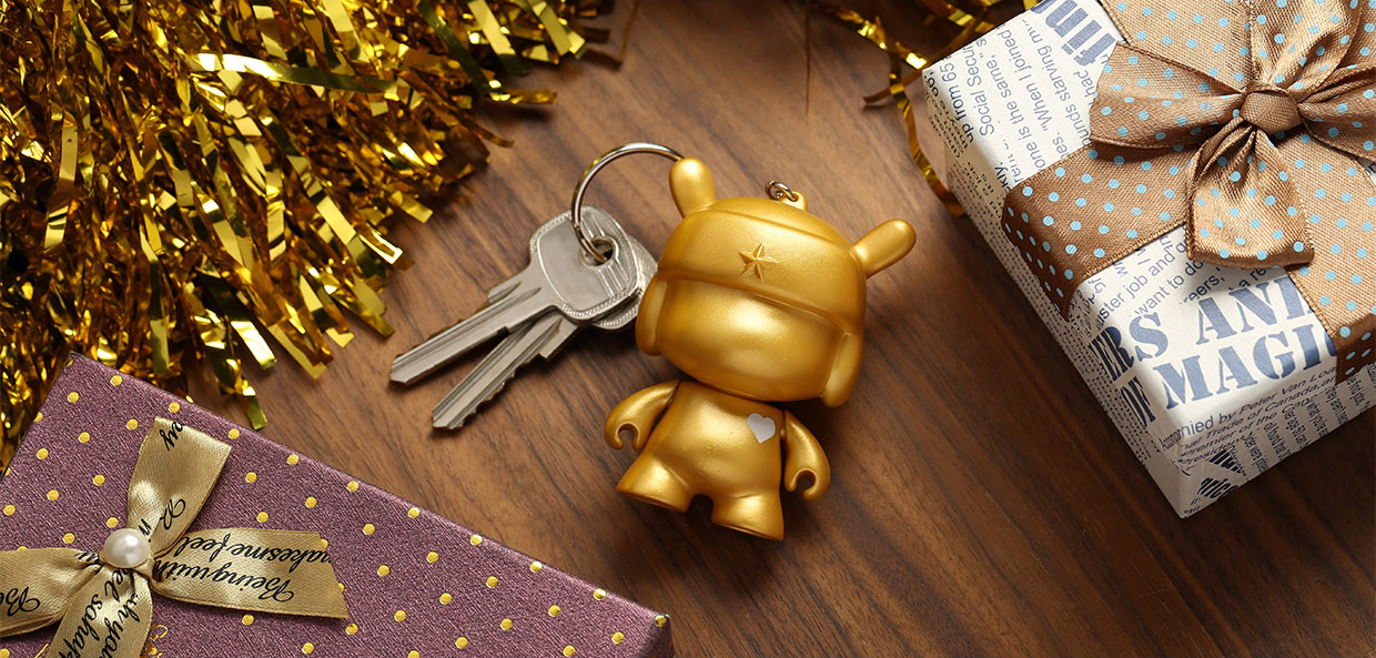 Key with Xiaomi Mi Bunny MITU 5th Anniversary Keychain Gold 3.5cm